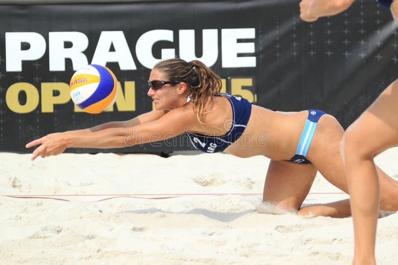 Georgina Klug - plażowy volleybll obrazy stock