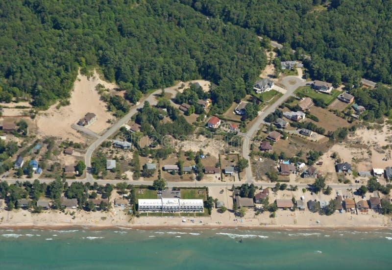 Georgina plaży antena obrazy royalty free