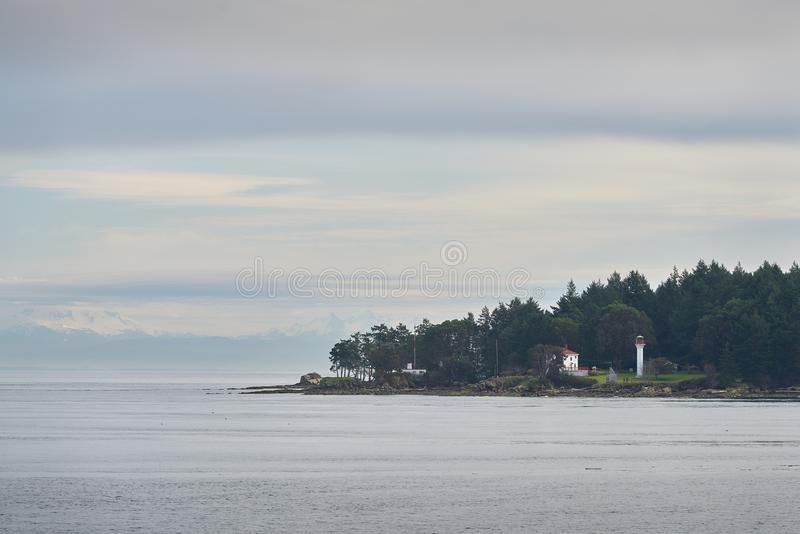 Georgina Point Lighthouse, Mayne Island, BC imagens de stock royalty free