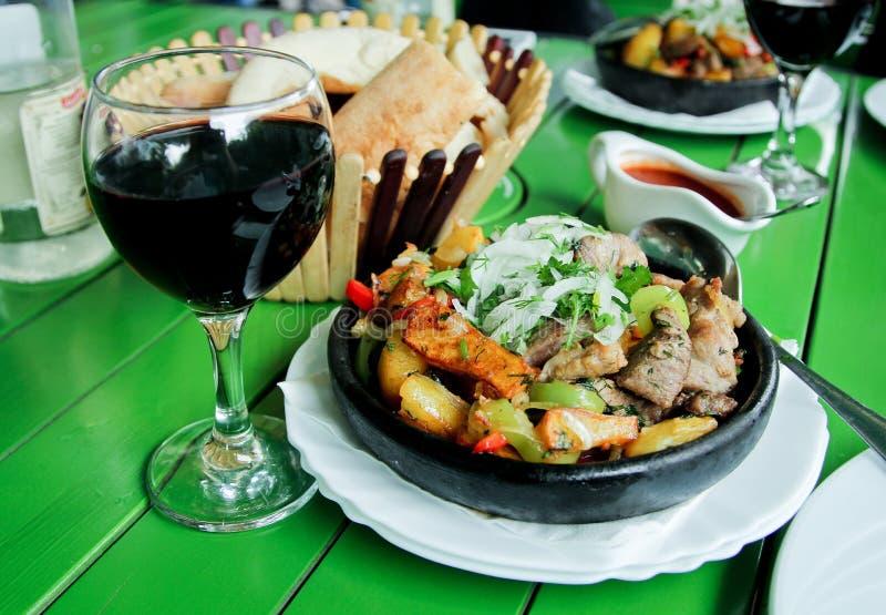 Georgisch voedsel royalty-vrije stock foto's
