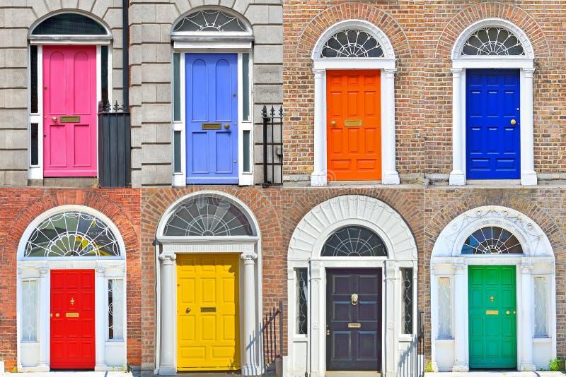 Georgische deuren in Dublin royalty-vrije stock afbeeldingen