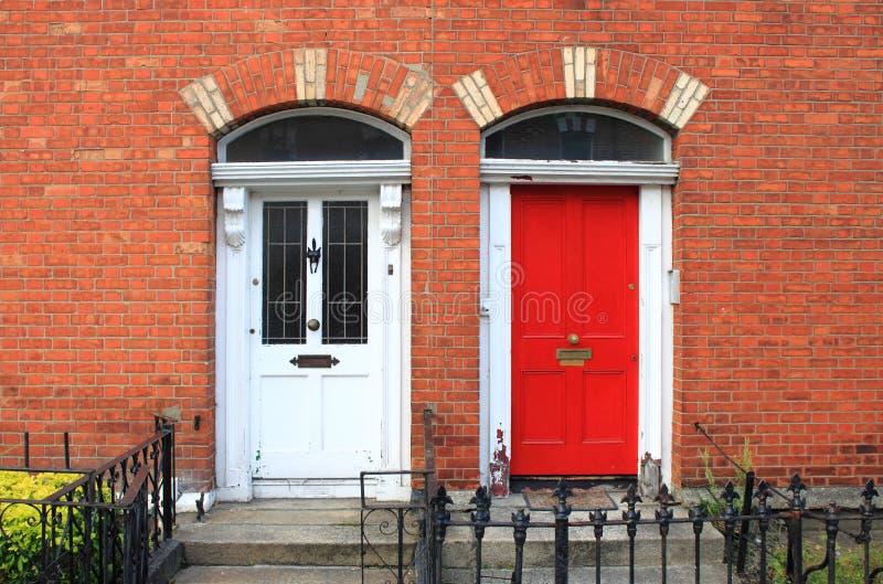 Georgische deuren in Dublin stock foto's