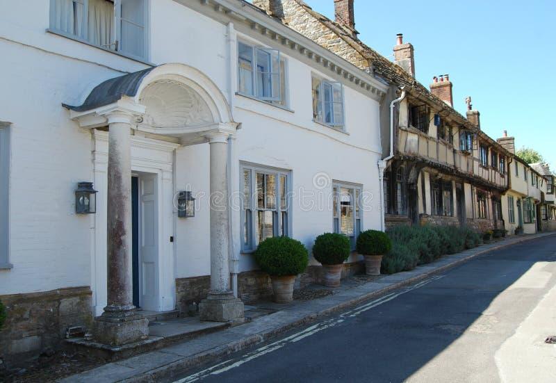 Georgische & helft-Betimmerde huizen in Cerne Abbas, Dorset royalty-vrije stock foto's
