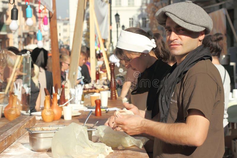 Georgische Küche des Händlers lizenzfreies stockfoto