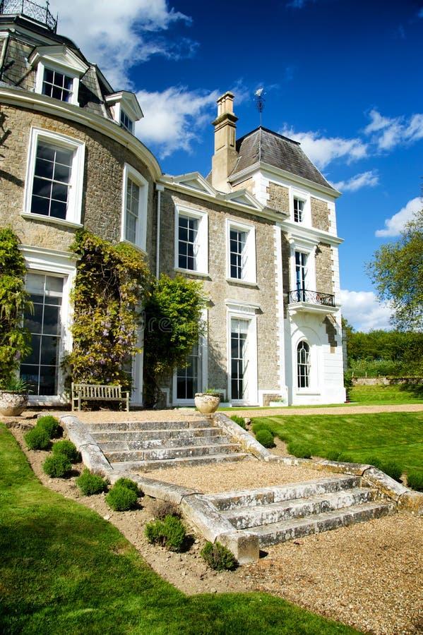Georgische Manor royalty-vrije stock foto