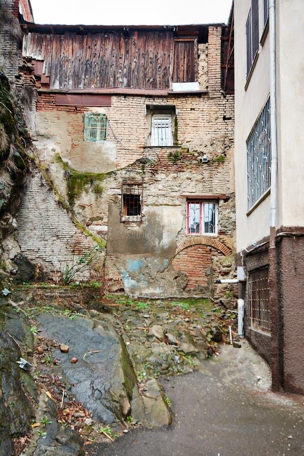 Georgische Straße und Yard von lizenzfreie stockbilder