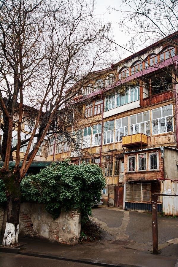 Georgische Straße und Yard von stockfotografie