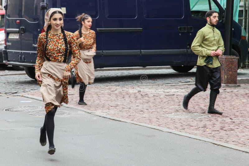 Georgisches Kulturfestival 'Tbilisoba' in Kyiv stockbild