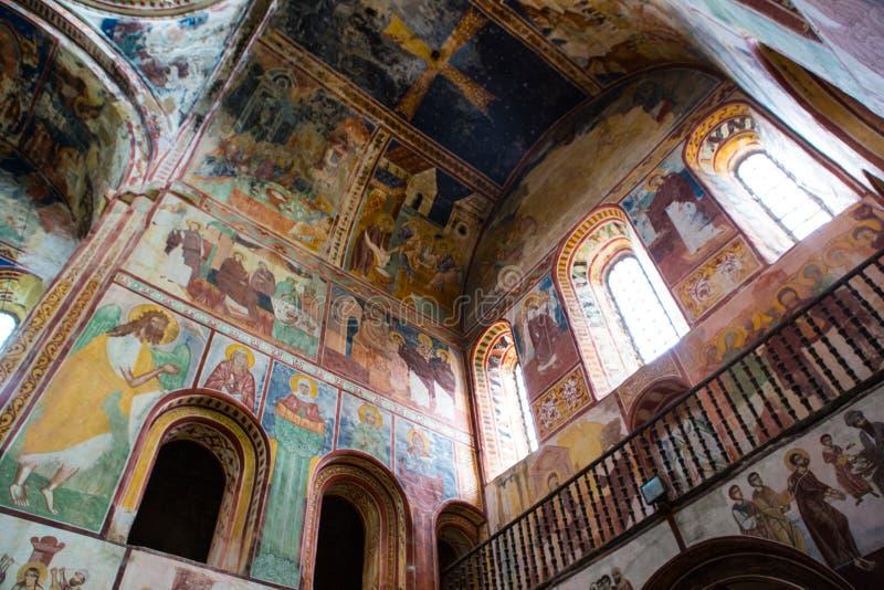 Georgisches orthodoxes Kloster Gelati nach innen lizenzfreies stockbild