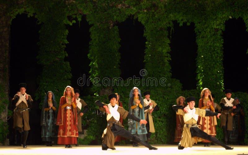 Georgisches Tanzensemble stockfotografie