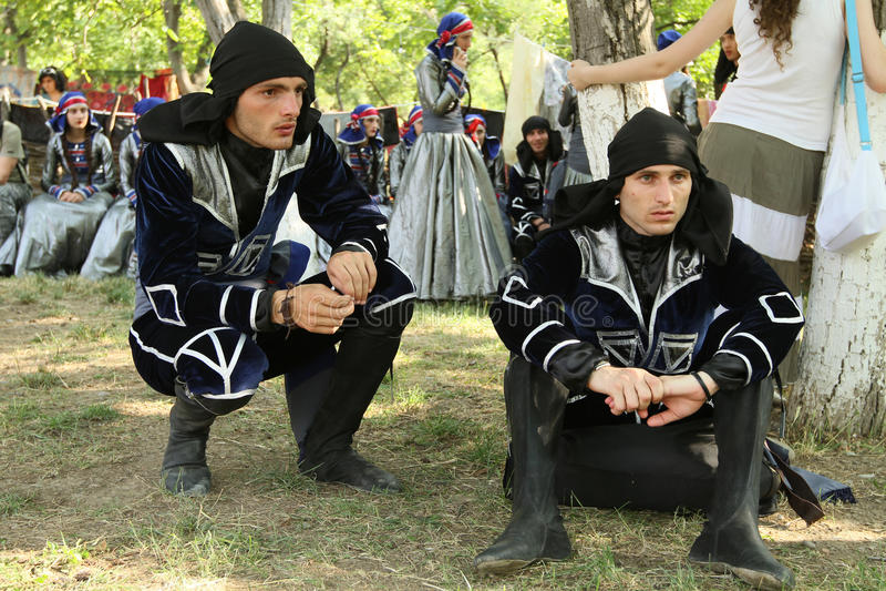 Georgisches Volkskunst-Gen-Festival lizenzfreies stockbild