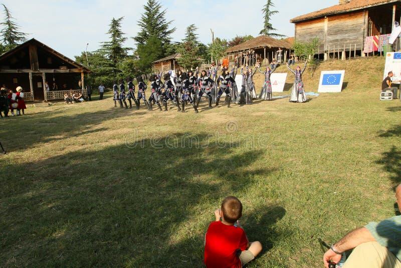 Georgisches Volkskunst-Gen-Festival stockfotografie