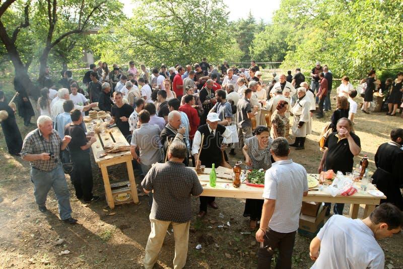 Georgisches Volkskunst-Gen-Festival stockbild