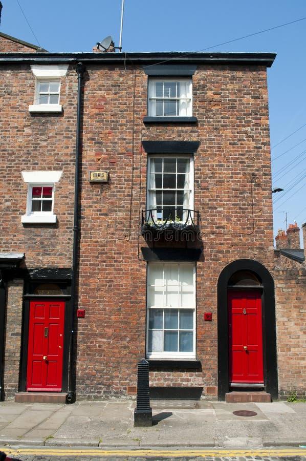 Georgisk arkitektur, Liverpool, UK arkivfoton