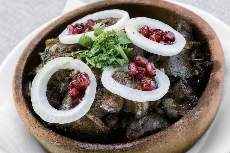 Georgisk maträttkuchmachi royaltyfri foto