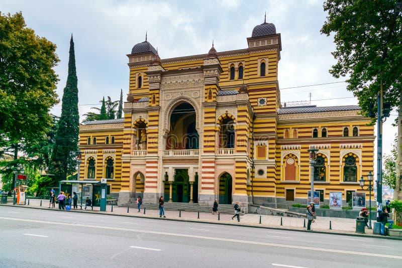 Georgisk nationell opera- och balettteater i Tbilisi, Georgia royaltyfria foton