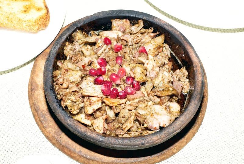 Georgisk traditionell och autentisk maträtt av avfall - kuchmachi arkivfoto