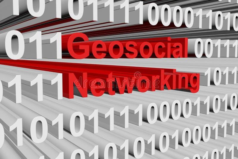 Geosocialvoorzien van een netwerk stock illustratie