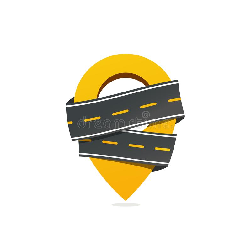 Free Geotag Sign With Asphalt Road Vector Icon. Get Taxi Vector Icon. Moving Logo Royalty Free Stock Photography - 178986617