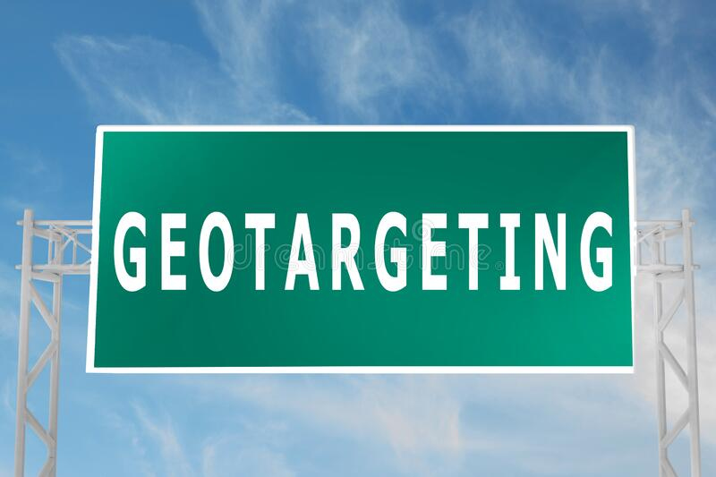 GEOTARGETING - commercial concept royalty free stock photography