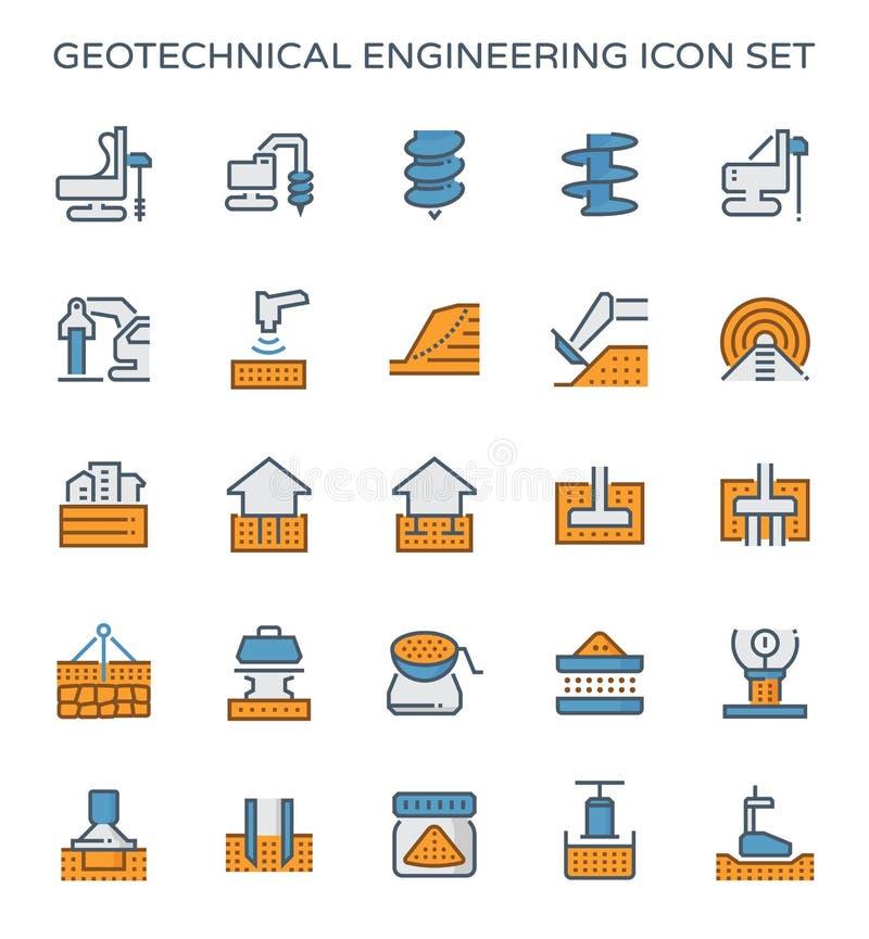 Geoteknisk tekniksymbol royaltyfri illustrationer