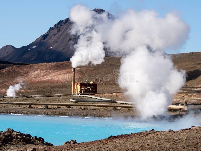 Geotermal elektrownia zdjęcia royalty free