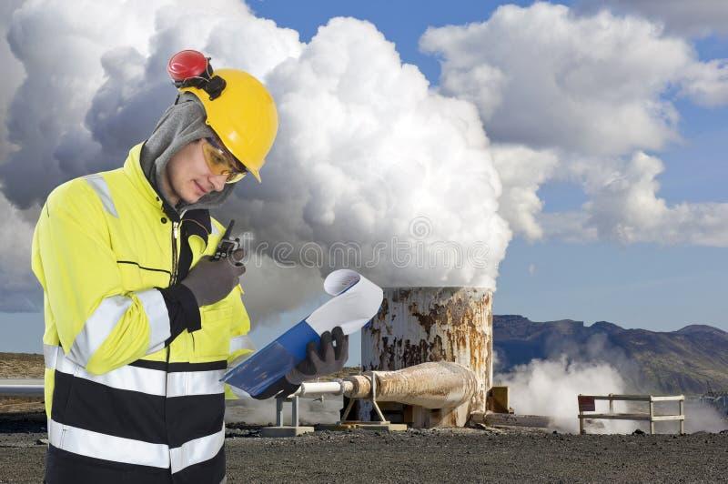 Geotermiczna inżynieria fotografia royalty free