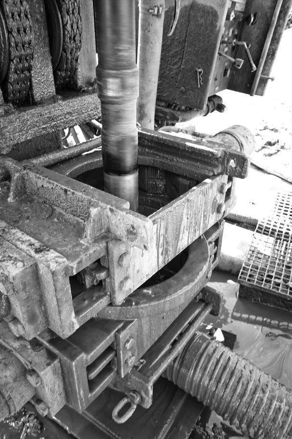 Geotermiczna wiertnicza maszyna czarny i biały zdjęcia royalty free