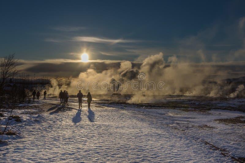 Geotermiczny dym zdjęcie stock