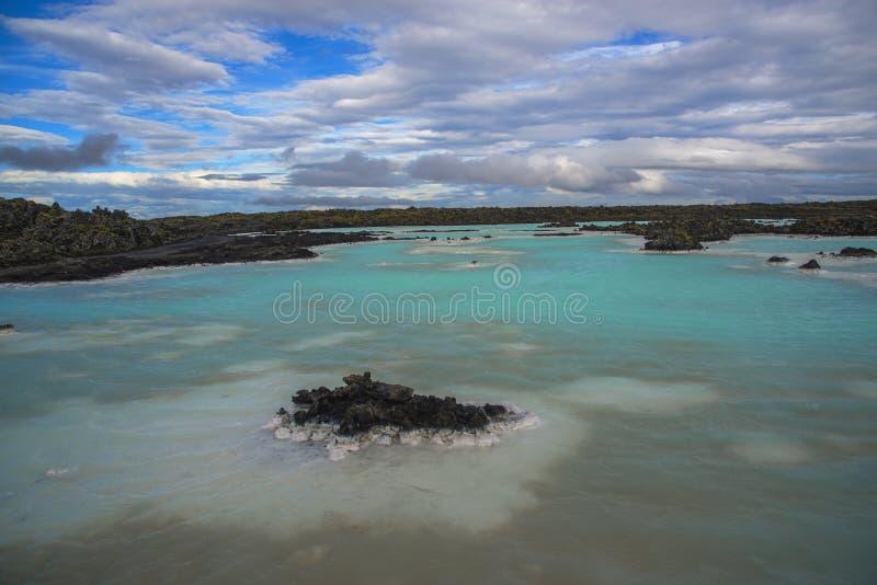 Geotermiczny jezioro w Iceland obrazy royalty free