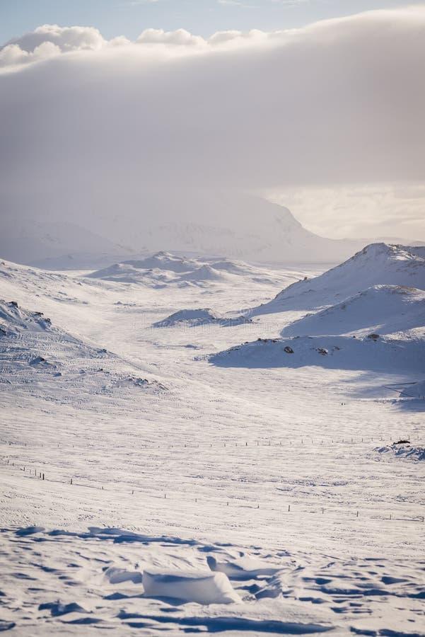 Geotermiczny krajobraz w Iceland podczas zimy obrazy royalty free
