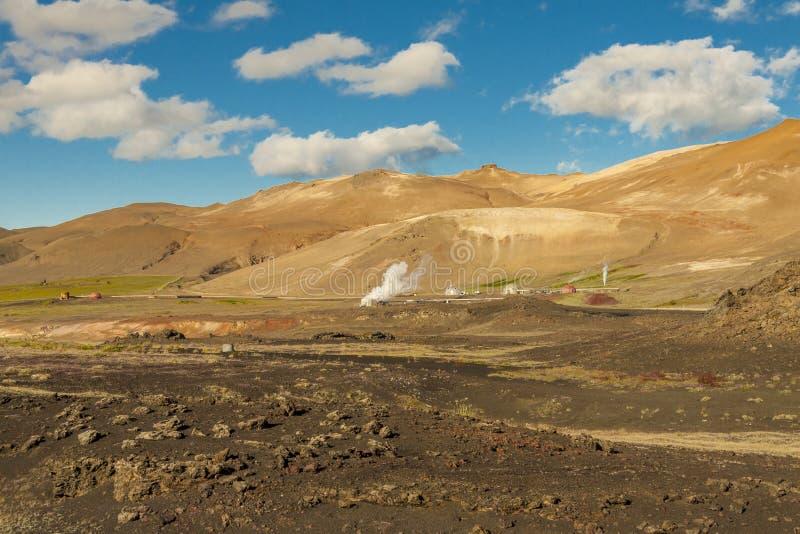 Geotermiczny krajobraz w Myvatn terenie - Iceland. obrazy royalty free