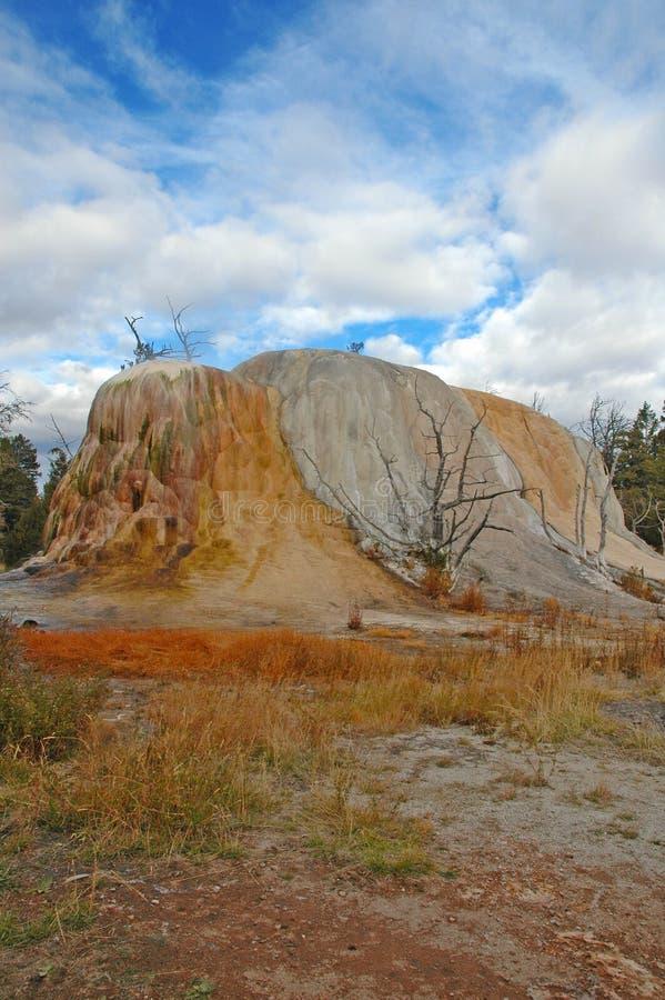 Geotermiczny krajobraz w Yellowstone parku narodowym zdjęcia stock