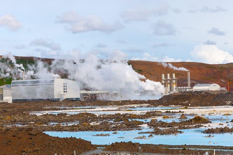 Geotermiczny pole Błękitna laguna blisko Reykjavik, Iceland zdjęcia royalty free