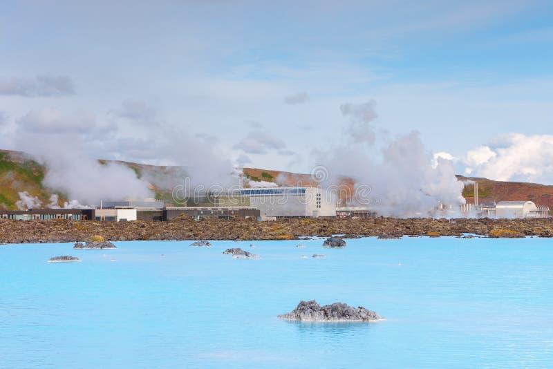 Geotermiczny pole Błękitna laguna blisko Reykjavik, Iceland obrazy royalty free