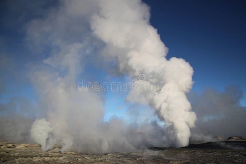 Geotermiczny pole, Boliwia, Ameryka Południowa fotografia royalty free