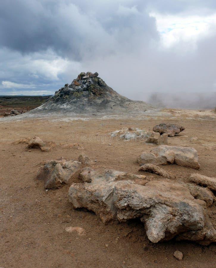 Geotermiczny pole, Iceland fotografia stock