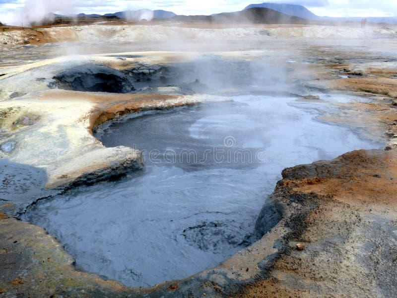 Geotermiczny pole w Iceland obrazy royalty free