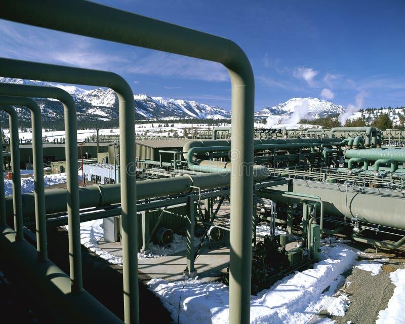 Geotermiczny projekt dotyczący energii fotografia stock