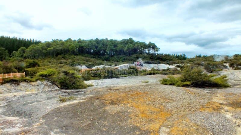 Geotermiczny Szampański basen przy Wai O Tapu fotografia stock
