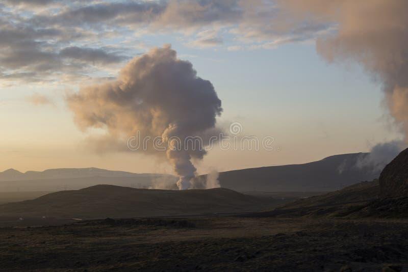 Geotermiczny teren blisko Reykjavik fotografia royalty free