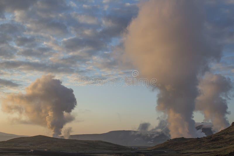 Geotermiczny teren blisko Reykjavik fotografia stock