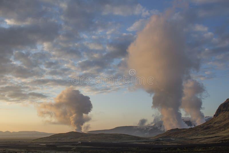 Geotermiczny teren blisko Reykjavik zdjęcia stock