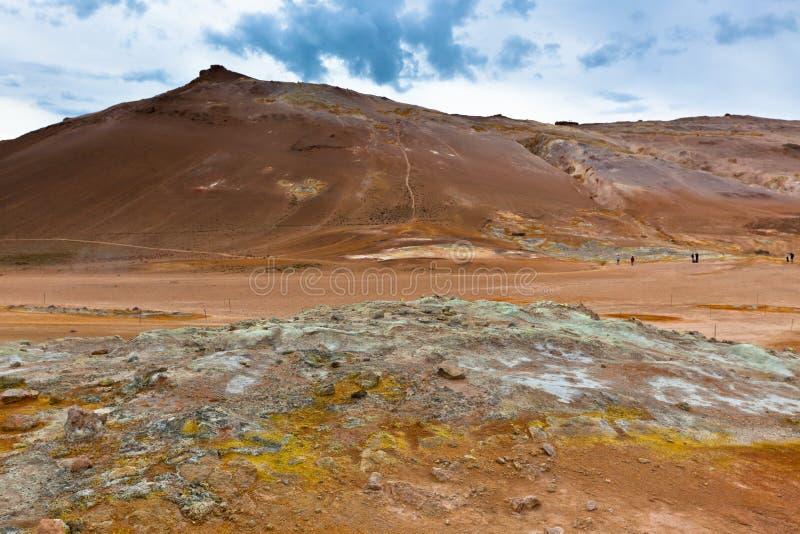 Geotermiczny teren Hverir, Iceland zdjęcie stock