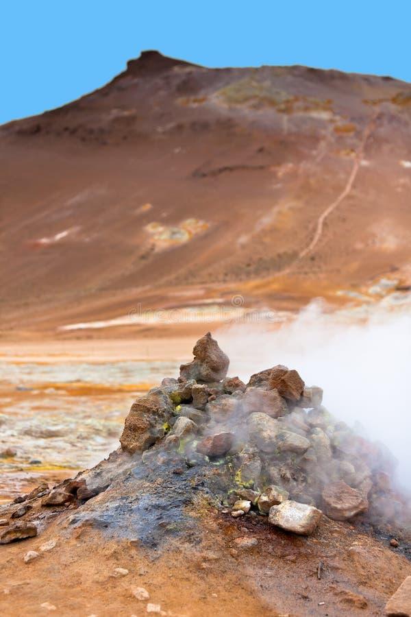 Geotermiczny teren Hverir, Iceland obrazy royalty free