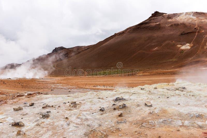 Geotermiczny teren Hverir w Iceland zdjęcie royalty free