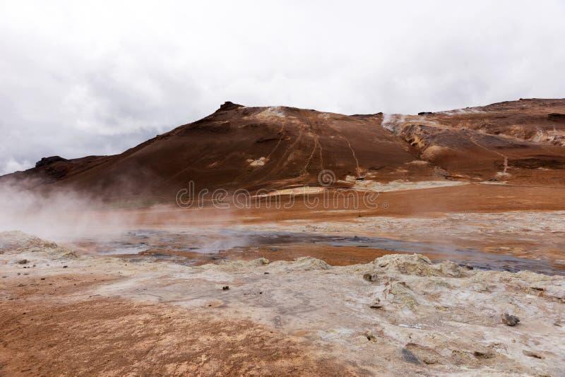 Geotermiczny teren Hverir w Iceland zdjęcia royalty free