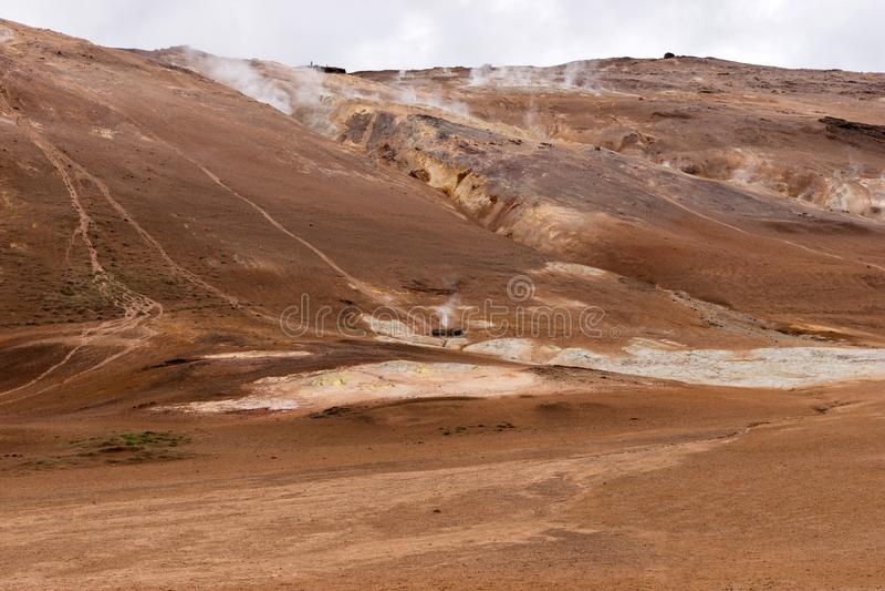 Geotermiczny teren Hverir w Iceland zdjęcie stock
