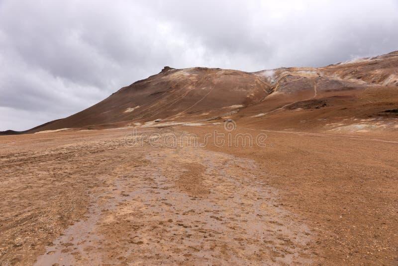 Geotermiczny teren Hverir w Iceland obrazy royalty free