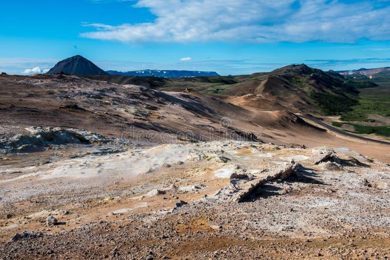Geotermiczny teren Hverir w Iceland obraz stock